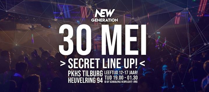 New Generation 12 tm 17 jaar – Secret Line-up